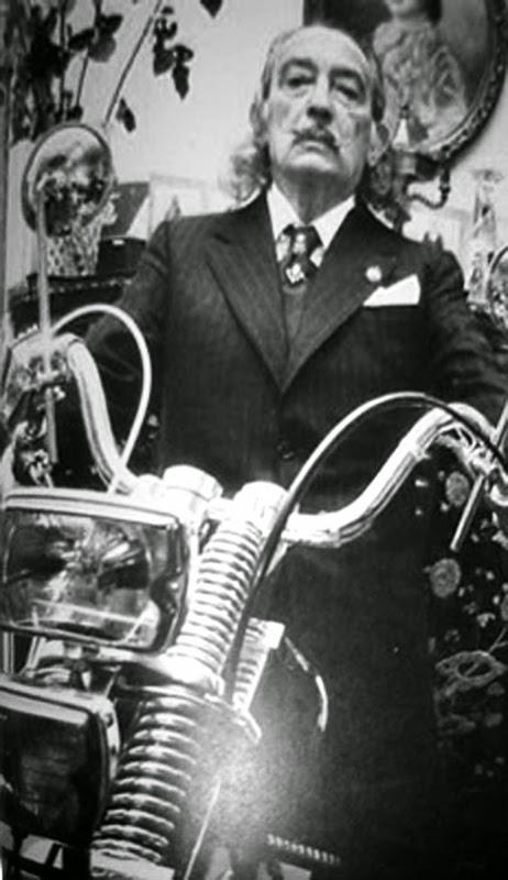 salvador dali on a honda cb500 2