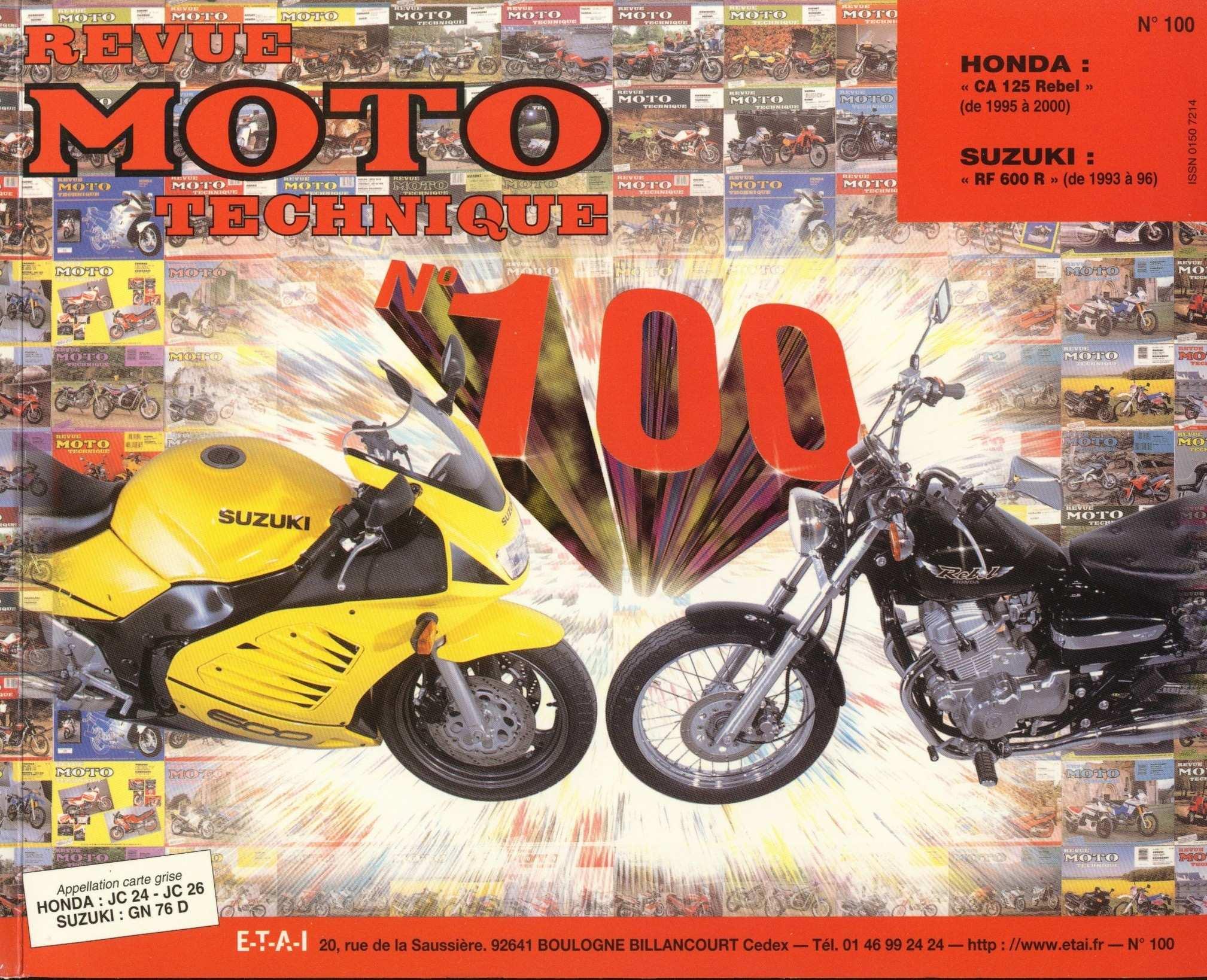 Revue moto technique - no. 100 CA125X Rebel JC24 (1999) (French)