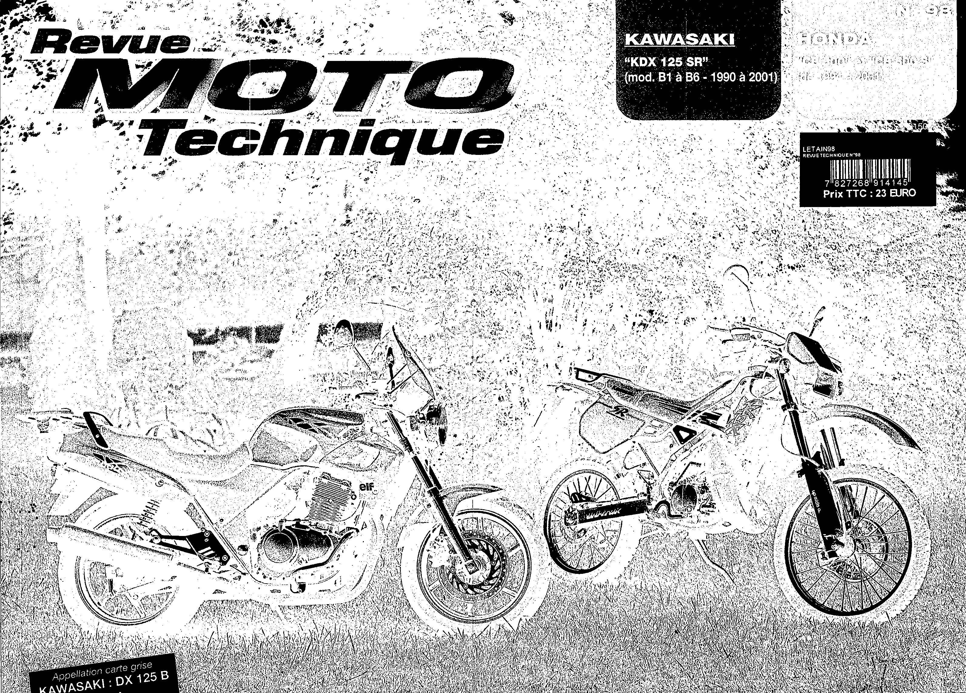 Revue moto technique - no. 98 for Honda CB500T PC32A (1996) (French)