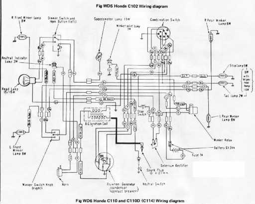 Honda C110 Wiring Schematic