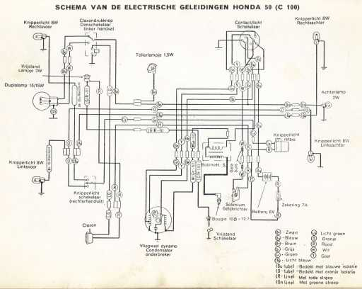 Honda C100 (Dutch) Wiring Schematic
