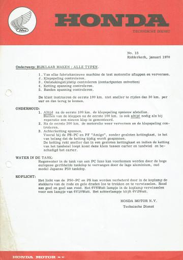 Servicebulletin 15 (1970)