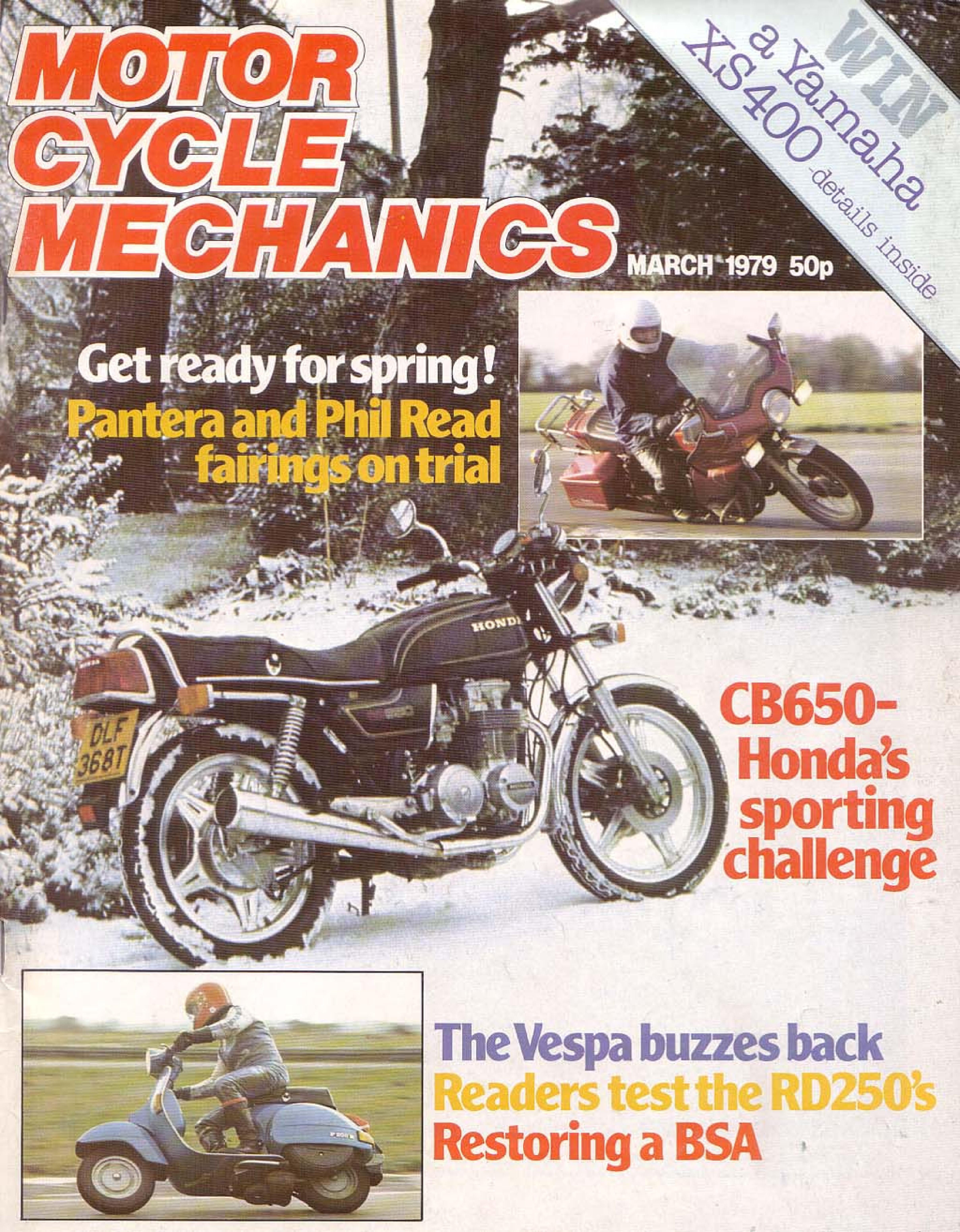 Motorcycle Mechanics about Honda CB650 (March 1979)