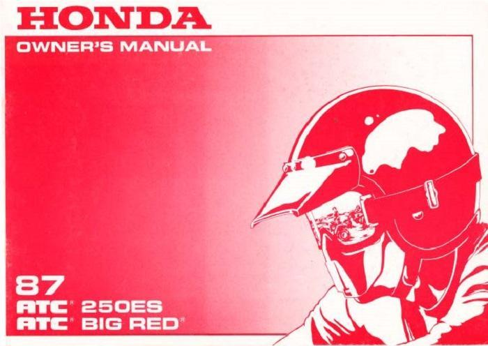 Honda ATC250ES (1987) Owner's Manual