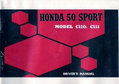 Honda C110 Owner's Manual