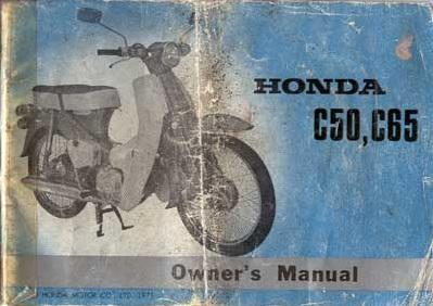 Honda C50 Owner's Manual