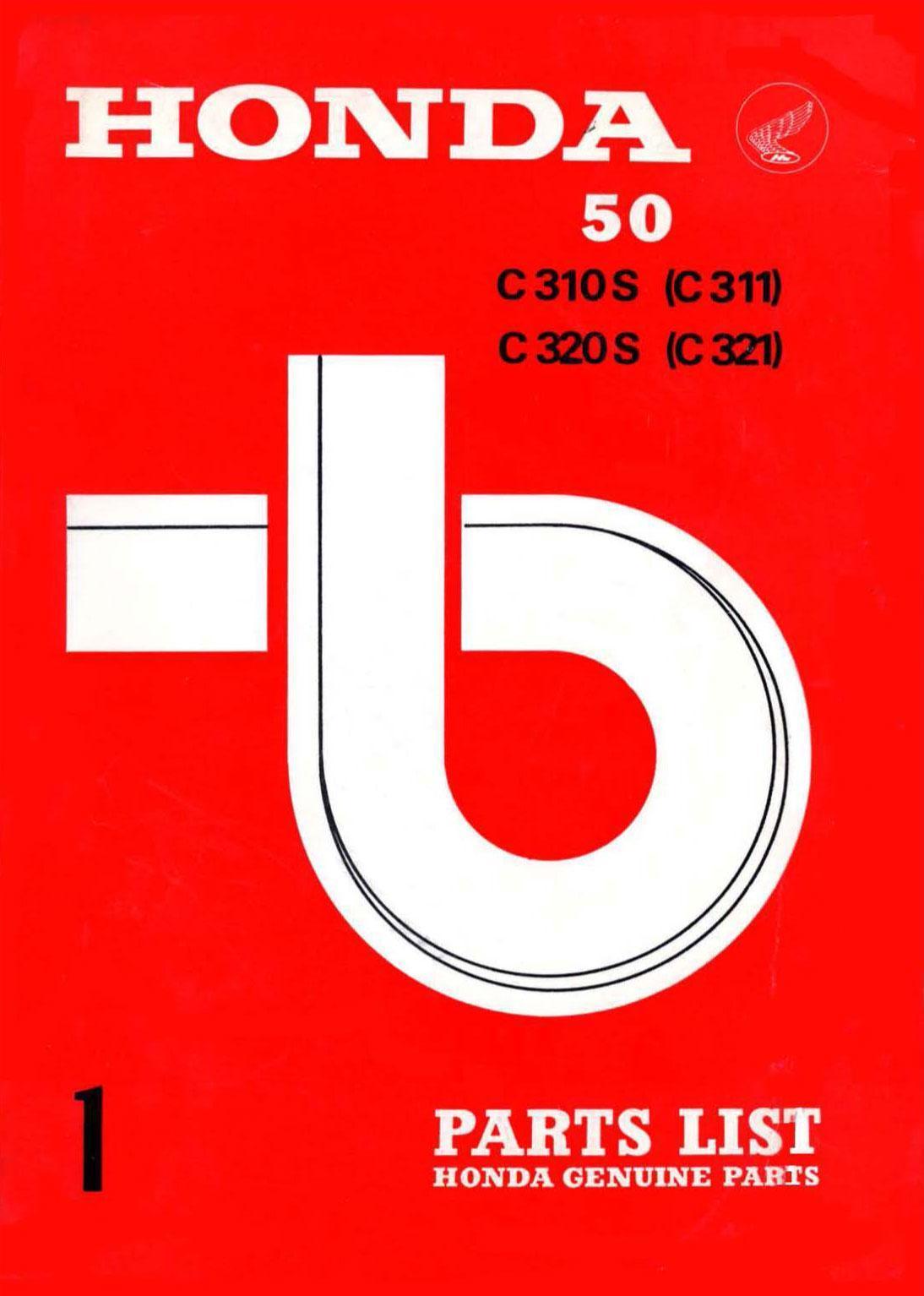 Parts List for Honda C310S (1967)