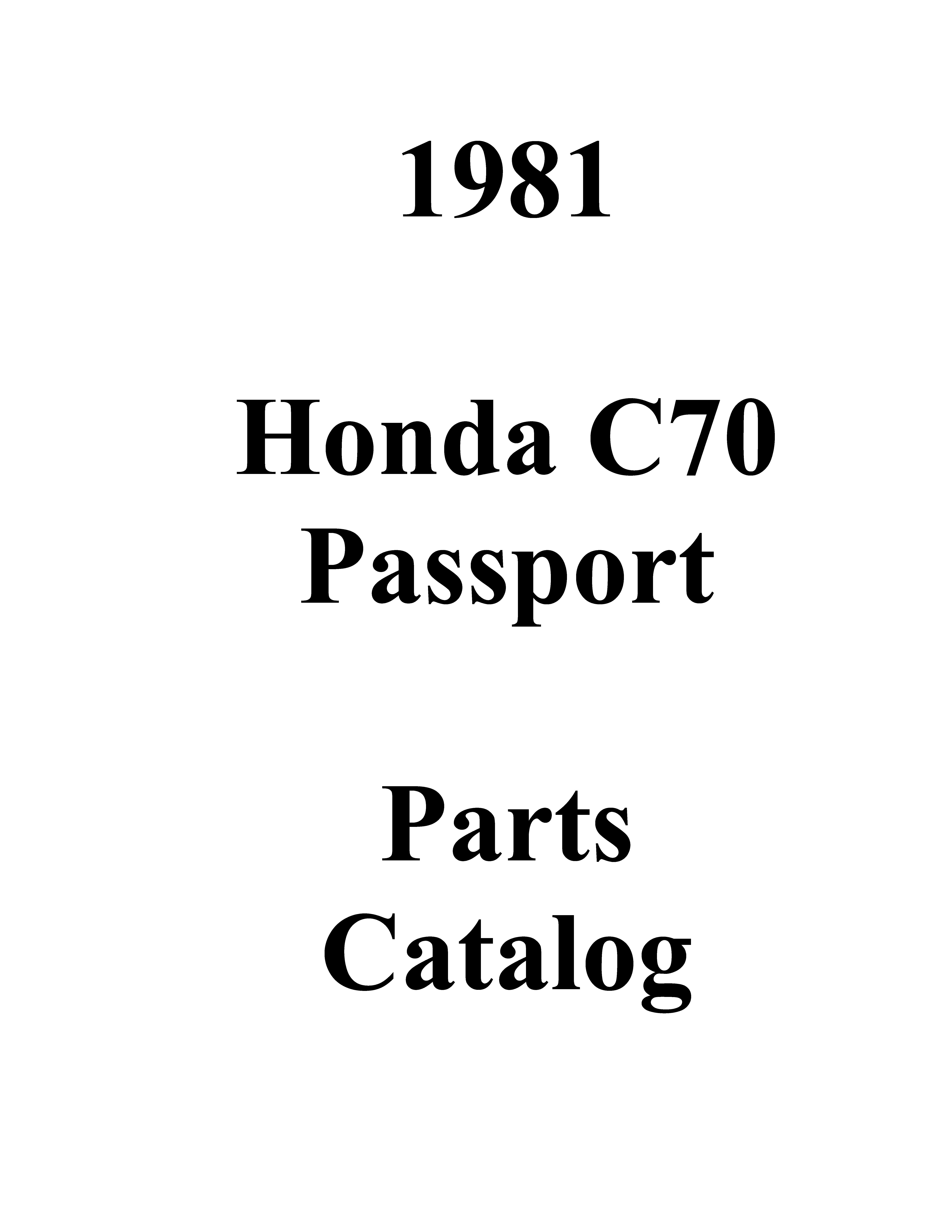 Parts List for Honda C70 (1981)