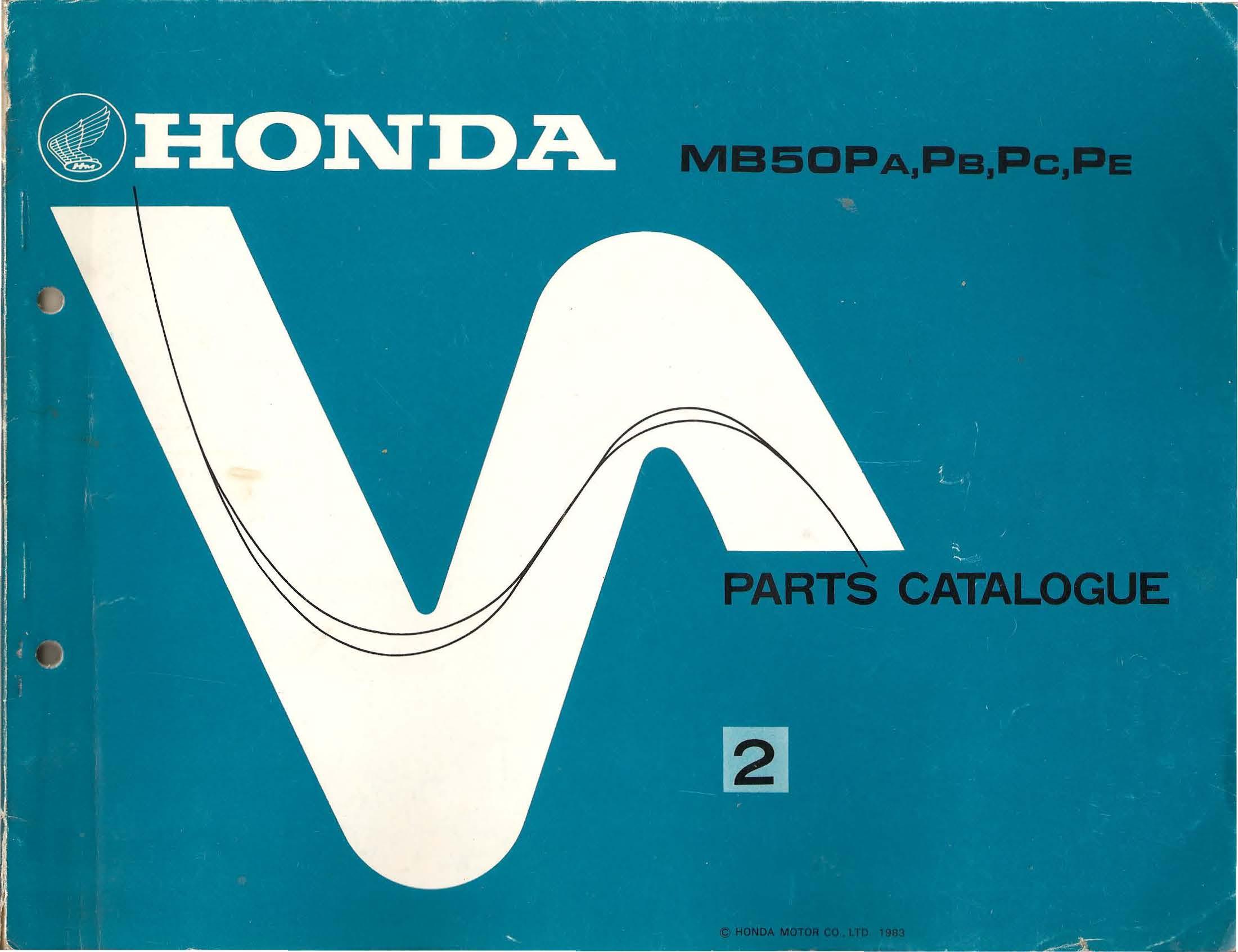 Parts list for Honda MB50P (1983)