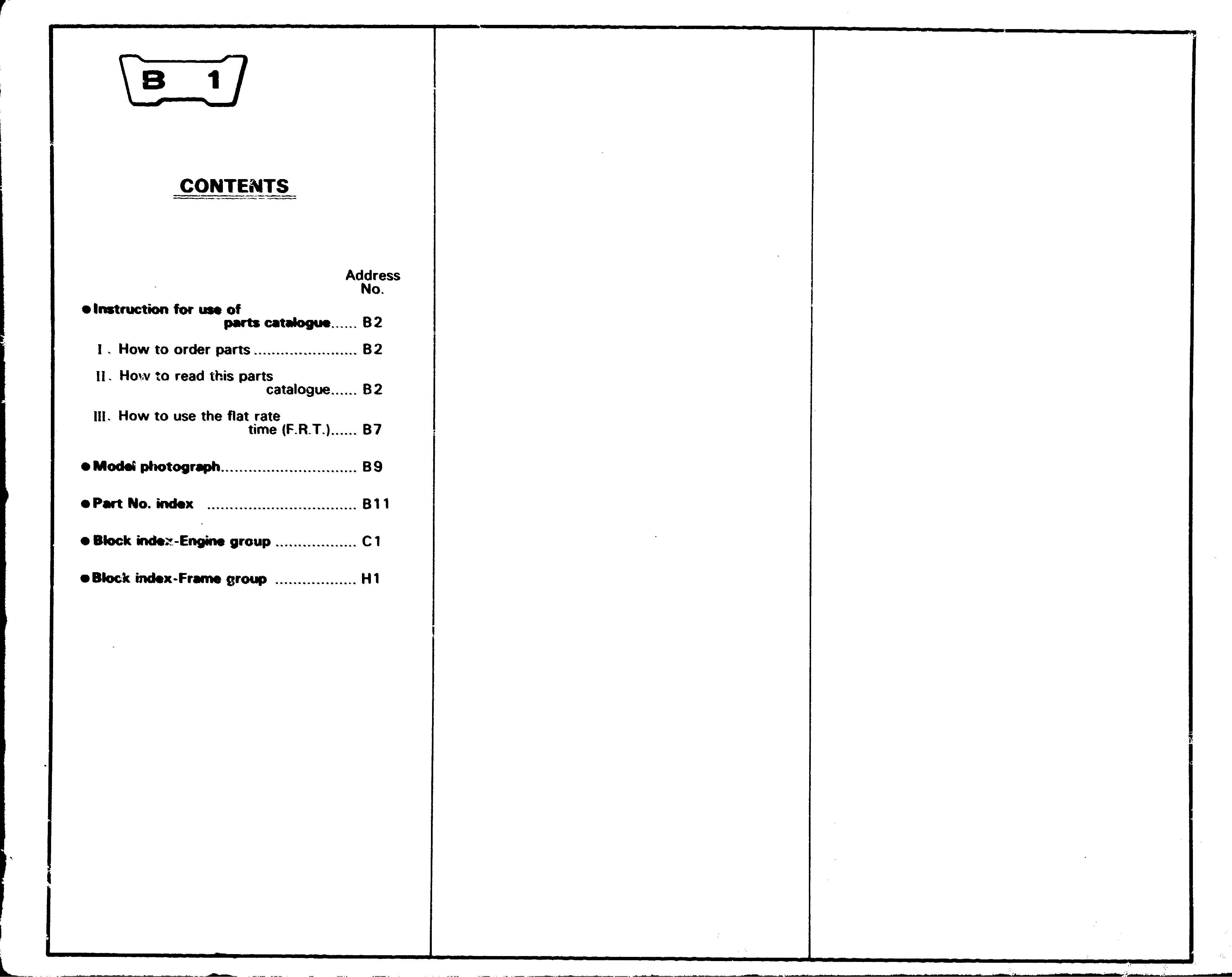 Parts List for Honda XL250R (1978)
