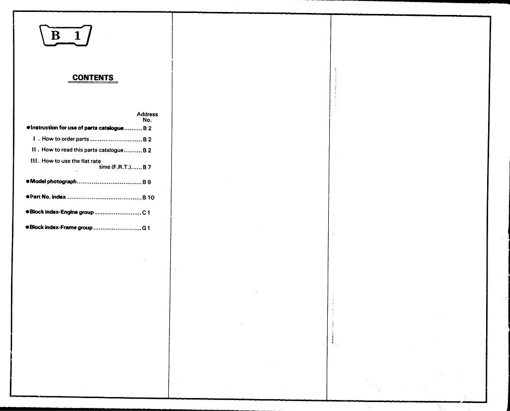 Parts List for Honda XL600L (1983)