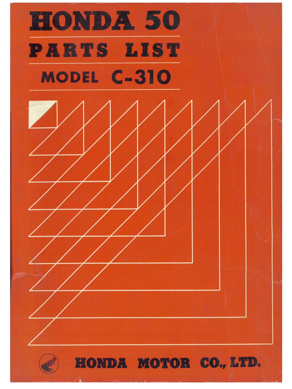 Parts List for Honda C310 (1963)