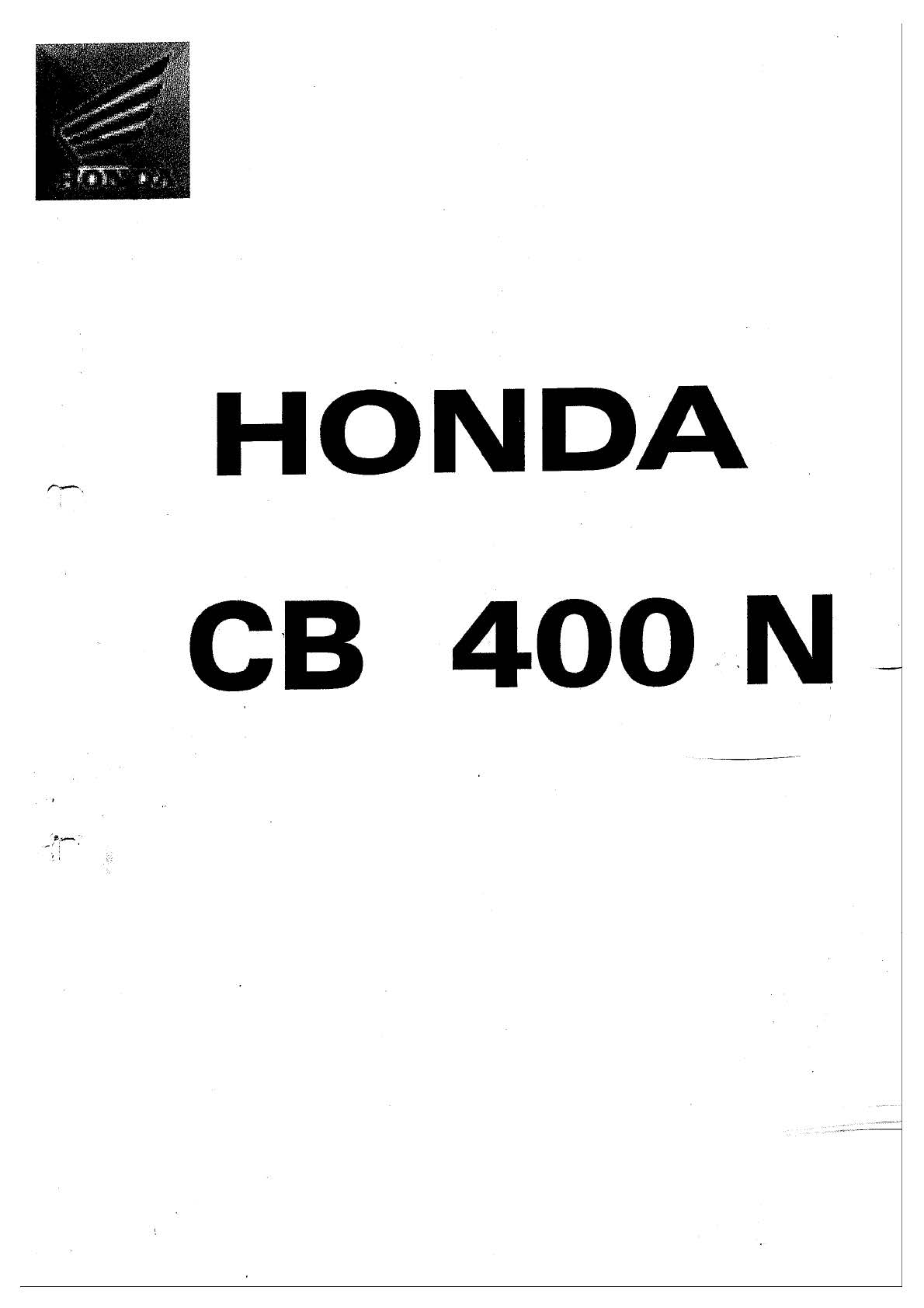 Workshop manual for Honda CB400N (German)