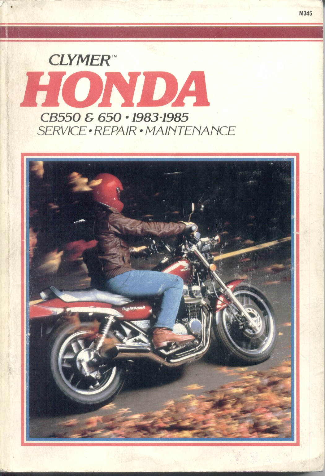 Workshop manual for Honda CB550 (1983-1985)