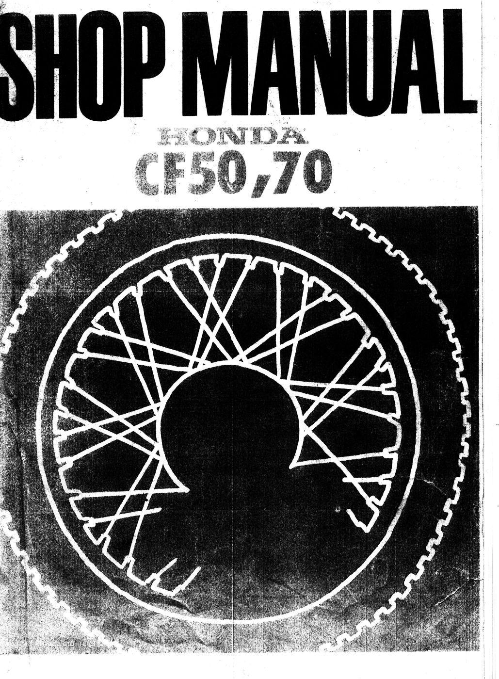Workshop Manual for Honda CF70 (1973)