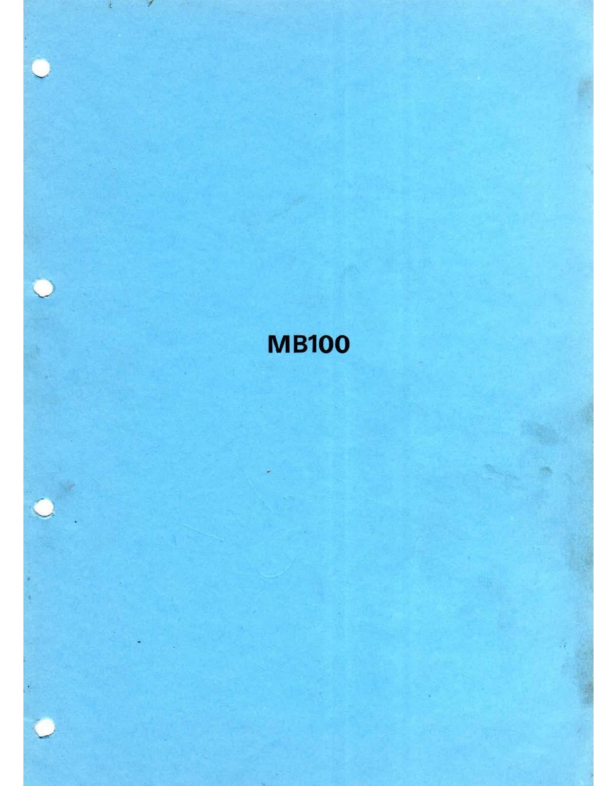 Workshop manual for Honda MB100