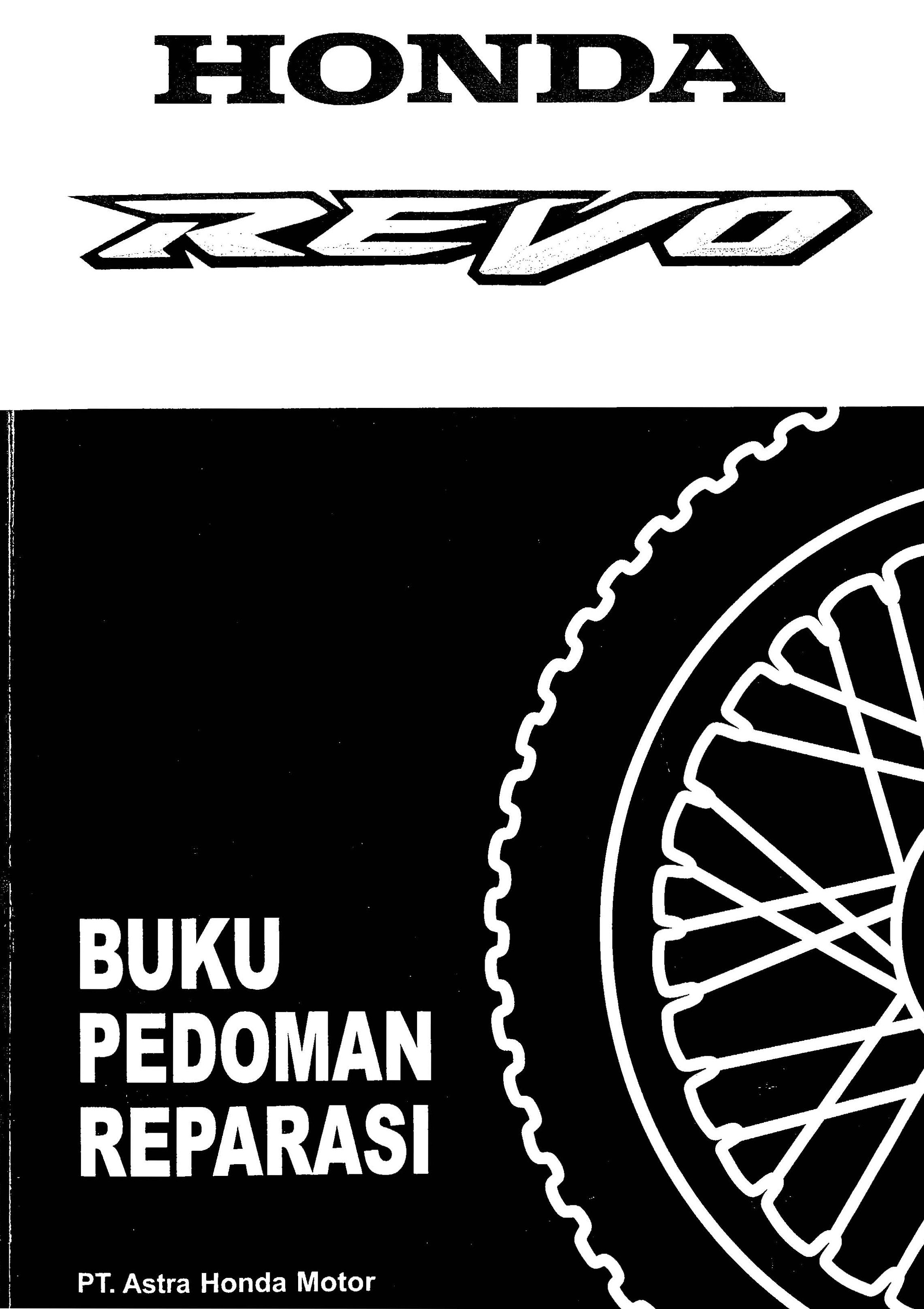 Workshop manual for Honda Revo (Indonesian) (2009)