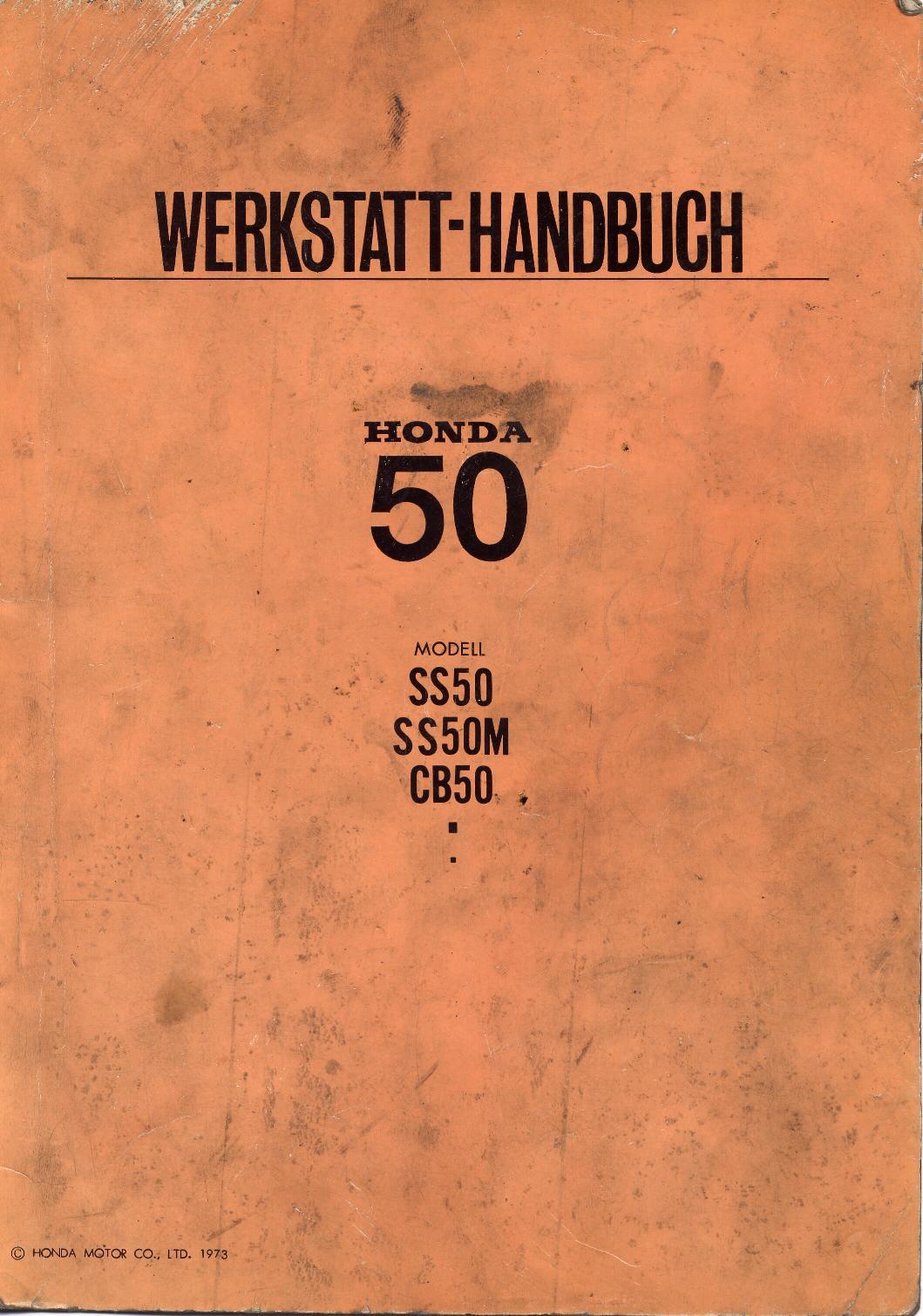Workshop Manual for Honda SS50M (1973)